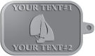 Ace Recognition Pewter KeyTag - with your text and logo - catboat, daggerboard, sailboats, sail boat, sailing ships, sailing boats, sails, sailing-boats
