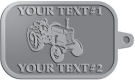 Ace Recognition Pewter KeyTag - with your text and logo - tractors, farm equipment, farm machinery, farm machines, field implements, farm implements