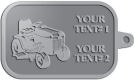 Ace Recognition Pewter KeyTag - with your text and logo - lawn tractors, riding mowers, garden tractors, lawn mowers