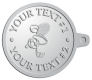 Ace Recognition Pewter KeyTag - with your text and logo - .