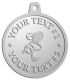 Ace Recognition Pewter KeyTag, Medal, Pendant - with your text and logo - .