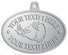 Ace Recognition Pewter KeyTag, Medal, Pendant - with your text and logo - Sports, mascots, animals, pigs, teams, high school, college, university