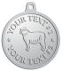 Ace Recognition Pewter KeyTag, Medal, Pendant - with your text and logo - animals,  domestic, ewes, farms, fleece, fleecy, livestock, mammals, mutton, rams, sheep, suffolk, white, wool, woollen