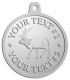Ace Recognition Pewter KeyTag, Medal, Pendant - with your text and logo - Hunting, caribou, animals, antlers, bucks, bulls, caribou, male, mammals, moose, wild, wilderness, wildlife, woods, elk, nature