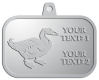 Ace Recognition Pewter KeyTag, Medal, Pendant - with your text and logo - ducks, waterfowl, hunting