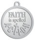 Ace Recognition Pewter KeyTag, Medal, Pendant - with your text and logo - motivational, inspirational, faith is action