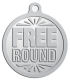 Ace Recognition Pewter KeyTag, Medal, Pendant - with your text and logo - free, tokens, free rounds, rounds, round tokens