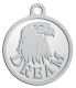 Ace Recognition Pewter KeyTag, Medal, Pendant - with your text and logo - eagles, bird of prey, patriotic, inspirational, strength, symbol, democracy, United States, USA, bald eagle
