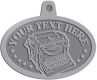 Ace Recognition Pewter KeyTag, Medal, Pendant - with your text and logo - typewriters, retro, antique, business, correspondence, editorial,  journalism, underwood, olympia, smith corona, business machines