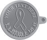 Ace Recognition Pewter KeyTag - with your text and logo - attitude, awareness, breast, cancer, celebrate, celebration, challenge, charity, courageous, health, hope, marathon, medical, miracle, pink, race, recover, recovery, ribbon, run, support, survival, survive, survivor, symbol, symbolic, therapy
