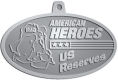 Ace Recognition Pewter KeyTag, Medal, Pendant - with your text and logo - Military - Fallen Soldier Memorial - Iraq - American Flag - American Heroes - US Reserves, metal, navy