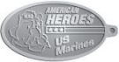 Ace Recognition Pewter KeyTag - with your text and logo - Military - Fallen Soldier Memorial - Iraq - American Flag - American Heroes - US Marines, metal, navy