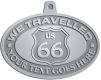 Ace Recognition Pewter KeyTag, Medal, Pendant - with your text and logo - Route 66 - US 66 - your text - we travelled, route 66, route sixty six, route sixty-six, historic highway, historic road, mother road, metal