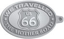 Ace Recognition Pewter KeyTag - with your text and logo - Route 66 - US 66 - historic - the mother road, route 66, route sixty six, route sixty-six, historic highway, historic road, mother road, metal