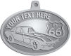 Ace Recognition Pewter KeyTag, Medal, Pendant - with your text and logo - Car designs - US route 66 - vintage cars - corvette - classic cars - sports car - your text, route 66, route sixty six, route sixty-six, historic highway, historic road, mother road