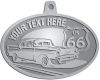 Ace Recognition Pewter KeyTag, Medal, Pendant - with your text and logo - Car designs - US route 66 - vintage cars - classic cars - coupe - roadster - your text, route 66, route sixty six, route sixty-six, historic highway, historic road, mother road