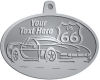 Ace Recognition Pewter KeyTag, Medal, Pendant - with your text and logo - Car designs - US route 66 - vintage cars - classic cars - corvette - your text, route 66, route sixty six, route sixty-six, historic highway, historic road, mother road, transportation