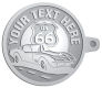Ace Recognition Pewter KeyTag - with your text and logo - Car Designs - classic car - US route 66 - corvette - vintage cars - your text, route 66, route sixty six, route sixty-six, historic highway, historic road, mother road, transportation