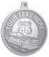 Ace Recognition Pewter KeyTag, Medal, Pendant - with your text and logo - Car Designs - US route 66 - classic car - sports car - vintage car - your text, route 66, route sixty six, route sixty-six, historic highway, historic road, mother road, transportation