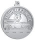 Ace Recognition Pewter KeyTag, Medal, Pendant - with your text and logo - Car Designs - US route 66 - classic car- roadster - vintage cars - your text, route 66, route sixty six, route sixty-six, historic highway, historic road, mother road, transportation