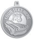 Ace Recognition Pewter KeyTag, Medal, Pendant - with your text and logo - Car Designs - US route 66 - classic car- roadster - sports car - vintage cars - your text, route 66, route sixty six, route sixty-six, historic highway, historic road, mother road