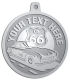 Ace Recognition Pewter KeyTag, Medal, Pendant - with your text and logo - Car Designs - US route 66 - convertible - vintage cars - sports car - your text, transportation, metal