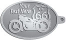 Ace Recognition Pewter KeyTag - with your text and logo - Motorcycle Designs - US 66 - route 66 -   chopper, motorcycle - your text, motorcycles, motor bikes, racing, motor, motorsports, motor-sports, transportation, metal