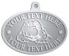 Ace Recognition Pewter KeyTag, Medal, Pendant - with your text and logo - Sports, mascots, sports, animals, bull dogs, canines, teams, high school, college, university
