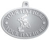 Ace Recognition Pewter KeyTag, Medal, Pendant - with your text and logo - Cavemen, caveman, prehistoric, primal