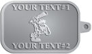 Ace Recognition Pewter KeyTag - with your text and logo - Cavemen, caveman, prehistoric, primal