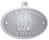Ace Recognition Pewter KeyTag, Medal, Pendant - with your text and logo - Sports, mascots, sports, walrus, sea creatures, teams, high school, college, university