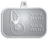 Ace Recognition Pewter KeyTag, Medal, Pendant - with your text and logo - Aliens, rocket ships, rockets