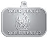 Ace Recognition Pewter KeyTag, Medal, Pendant - with your text and logo - Sports, mascots, bats, high school, college, university