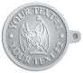 Ace Recognition Pewter KeyTag - with your text and logo - Sports, mascots, bats, high school, college, university