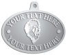 Ace Recognition Pewter KeyTag, Medal, Pendant - with your text and logo - Sports, mascots, lions, cats, high school, college, university