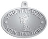 Ace Recognition Pewter KeyTag, Medal, Pendant - with your text and logo - Sports, mascots, sports, animals, dogs, canines, teams, high school, college, university