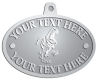 Ace Recognition Pewter KeyTag, Medal, Pendant - with your text and logo - Sports, mascots, dinosaurs, high school, college, university