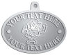 Ace Recognition Pewter KeyTag, Medal, Pendant - with your text and logo - Sports, mascots, sharks, high school, college, university