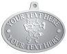 Ace Recognition Pewter KeyTag, Medal, Pendant - with your text and logo - Sports, mascots, foxes, high school, college, university