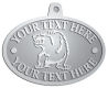 Ace Recognition Pewter KeyTag, Medal, Pendant - with your text and logo - Sports, mascots, bears, grizzlies, high school, college, university