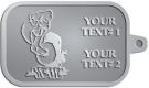 Ace Recognition Pewter KeyTag - with your text and logo - Sports, mascots, birds, buzzards, high school, college, university