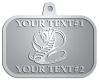 Ace Recognition Pewter KeyTag, Medal, Pendant - with your text and logo - Tribal, tattoos, snakes, cobras
