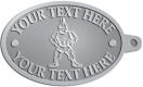 Ace Recognition Pewter KeyTag - with your text and logo - Sports, mascots, soldiers, roman soldiers, high school, college, university