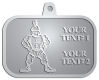 Ace Recognition Pewter KeyTag, Medal, Pendant - with your text and logo - Sports, mascots, soldiers, roman soldiers, high school, college, university