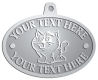 Ace Recognition Pewter KeyTag, Medal, Pendant - with your text and logo - Sports, mascots, cats, felines, high school, college, university