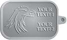 Ace Recognition Pewter KeyTag - with your text and logo - Sports, mascots, birds, eagles, hawks, ospreys, birds of prey, predators