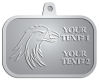 Ace Recognition Pewter KeyTag, Medal, Pendant - with your text and logo - Sports, mascots, birds, eagles, hawks, ospreys, birds of prey, predators