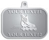 Ace Recognition Pewter KeyTag, Medal, Pendant - with your text and logo - rollerblades, inline skating, action, active, athletic, blade, boot, enjoy, exercise, extreme, fit, fitness, fun, hockey, inline, leisure, outside, play, recreating, recreation, ride, roll, roller, rollerblade, rollerblading, skate, skating, sport, wheel