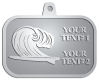 Ace Recognition Pewter KeyTag, Medal, Pendant - with your text and logo - waves, surfboard, surfing, surfers, surf, tropical, tropics, water, wind, boarding, dynamic, energy, sea, speed, splash, sport