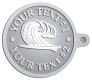 Ace Recognition Pewter KeyTag - with your text and logo - waves, surfboard, surfing, surfers, surf, tropical, tropics, water, wind, boarding, dynamic, energy, sea, speed, splash, sport